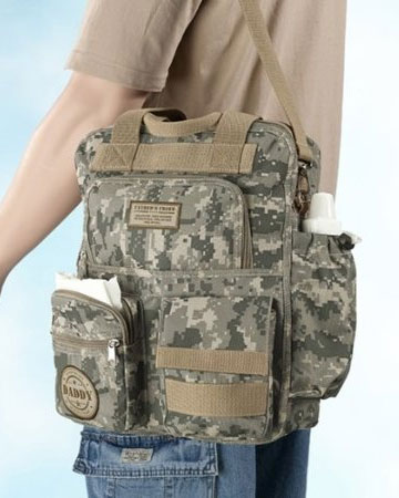 Lillian Rose Military Diaper Bag