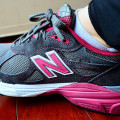 New Balance Shoes on the Feet
