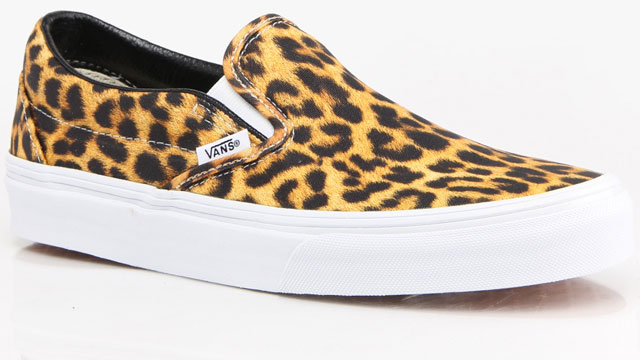 Vans Slip-On Pink & Black Leopard Print Skate Shoes. Item # Stash Points: 2, (?) This is the number of points you get in The Zumiez Stash for purchasing this item. Stash points are redeemable for exclusive rewards only available to Zumiez Stash members.