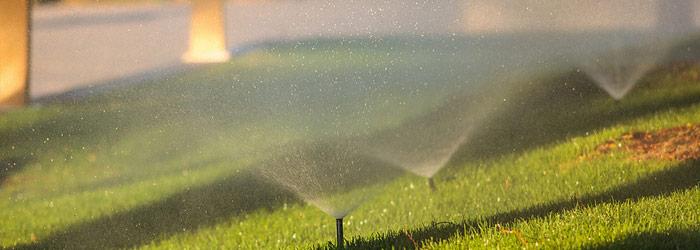 Sprinkler System Running