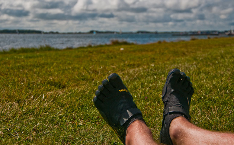 Guy With Vibram Shoes on