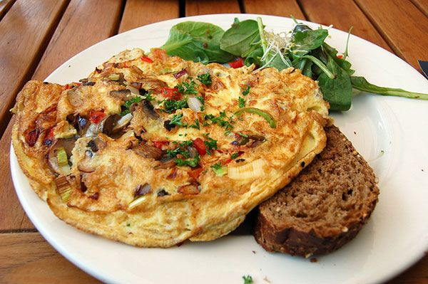 An Omelette and Toast