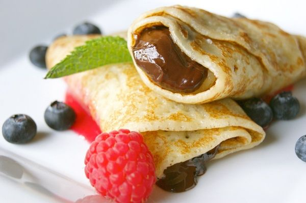 Plate of Nutella Crepes