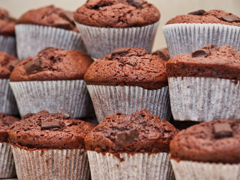 Muffins Stacked On Top of Each Other
