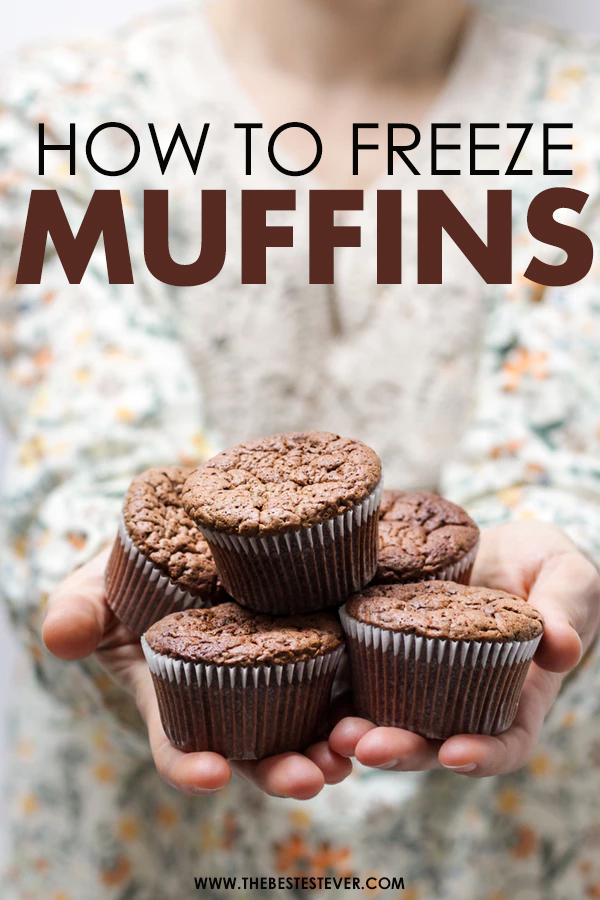 A Woman Holding Five Muffins in Her Hands