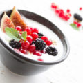 Greek Yogurt in Bowl With Fruit