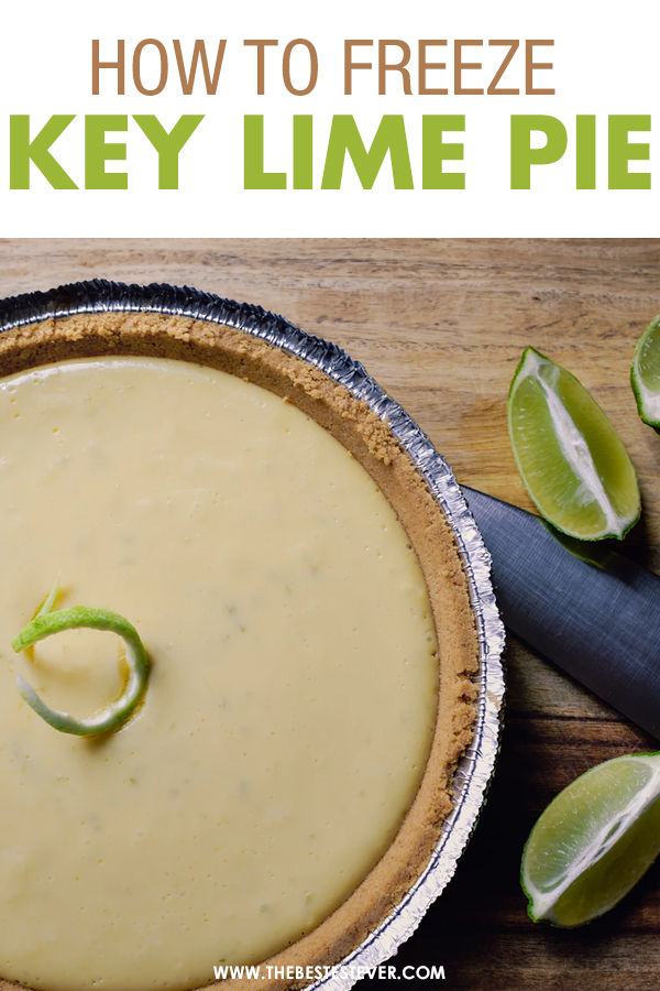 Key Lime Pie on a Table with a Knife and Cut Limes
