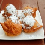Beignets on a plate