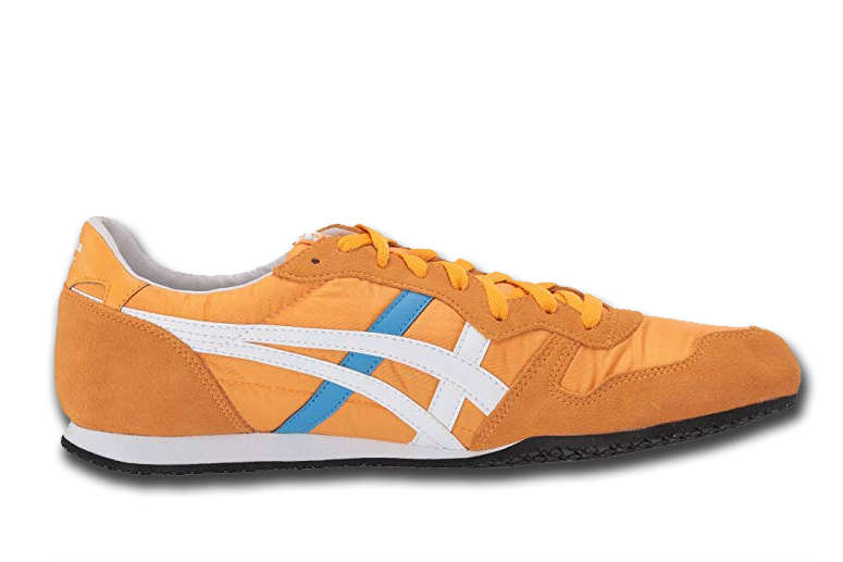 Yellow Onitsuka Tiger Serrano on White Background