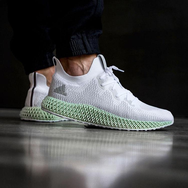 Adidas Alphaedge 4D on Feet with Black Pants
