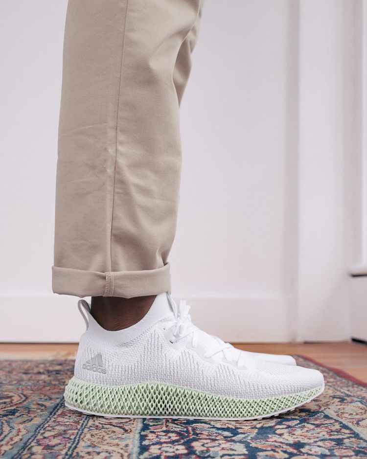Adidas Alphaedge 4D on Feet With Brown Pants