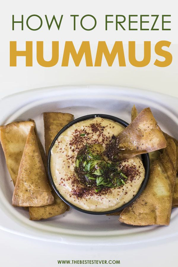 Hummus in a Plate With Pita Chips