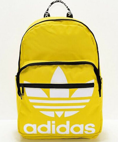 Yellow Adidas Trefoil Pocket Backpack