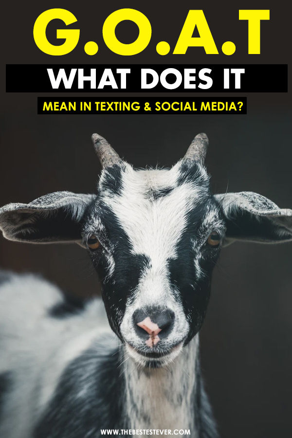 What Does GOAT Mean?