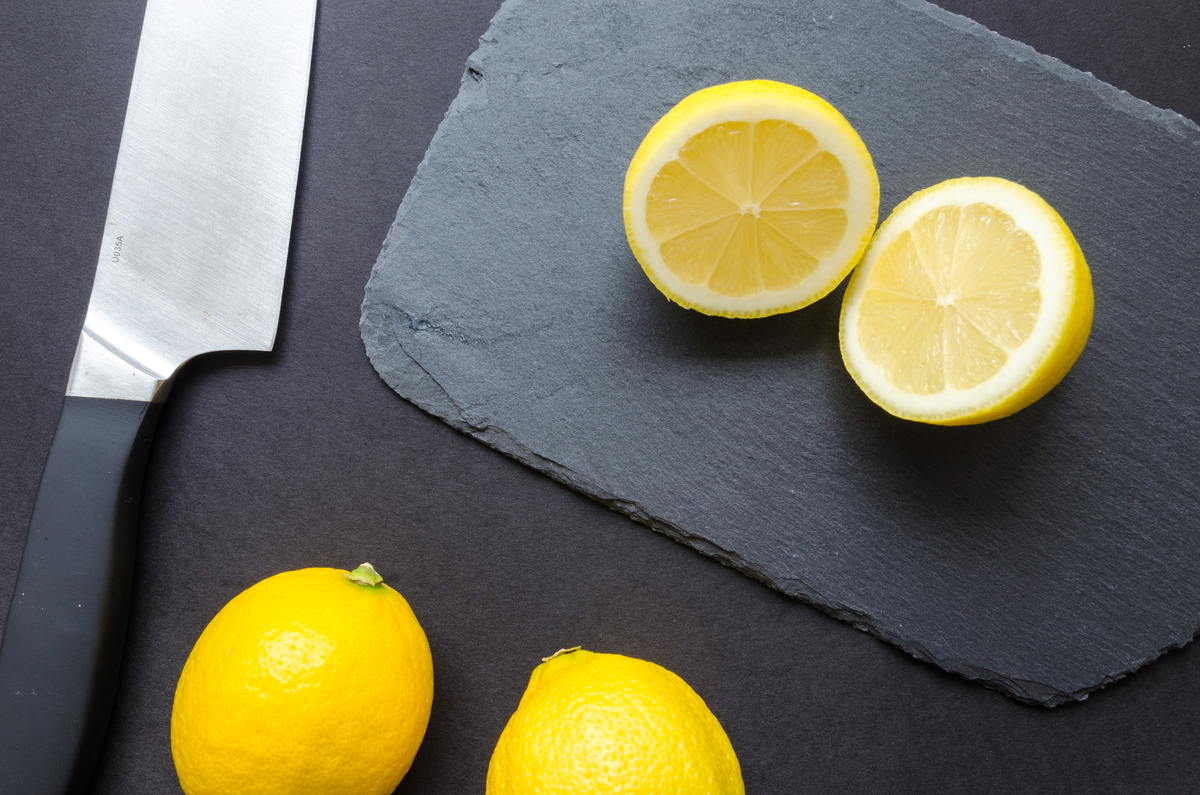 Lemons on a Cutting Board