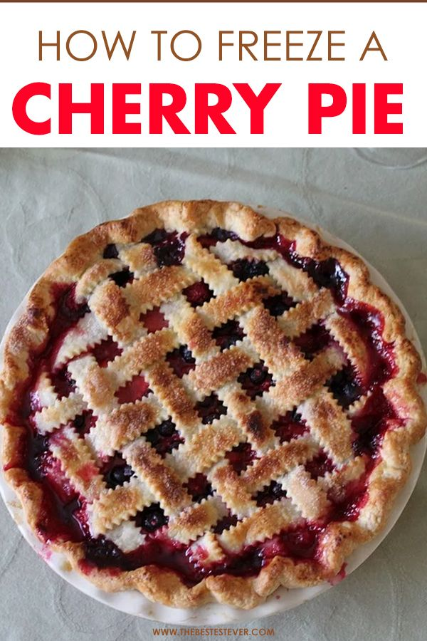 How to Freeze a Cherry Pie: A Step-By-Step Guide