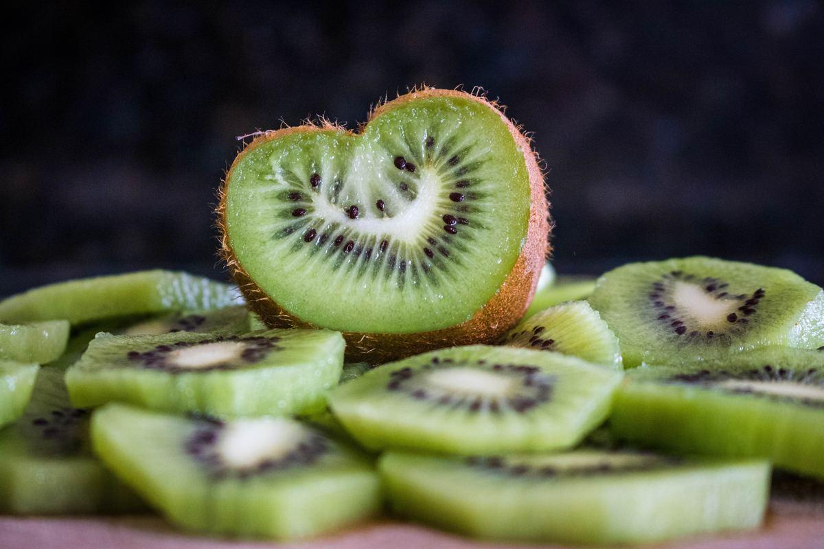 Sliced Kiwi on a Table