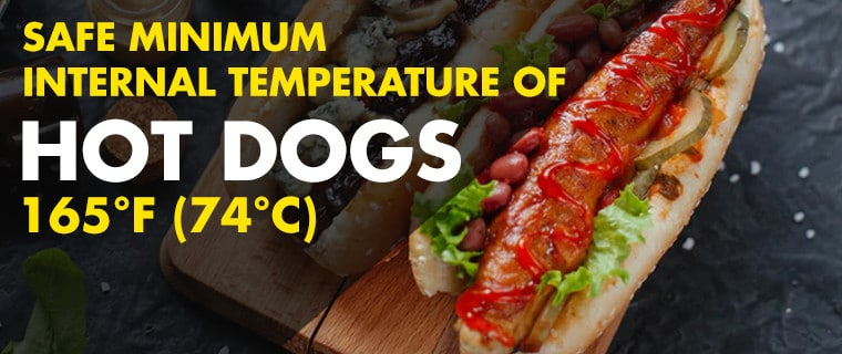 Safe Internal Temperature for Hot Dogs