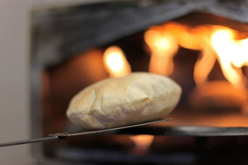Warming up Pita Bread in the Oven
