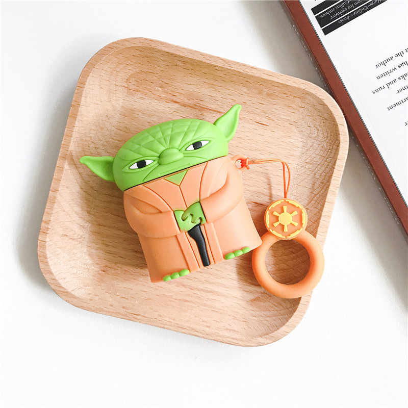 Yoda Airpod Case on a Table