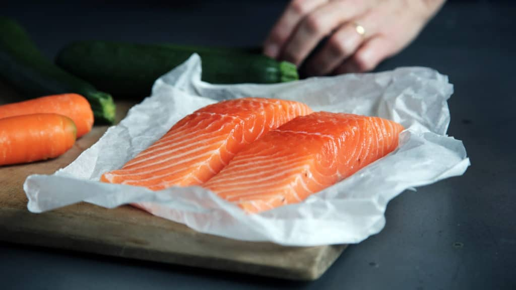 Defrost Salmon Overnight in the Refrigerator