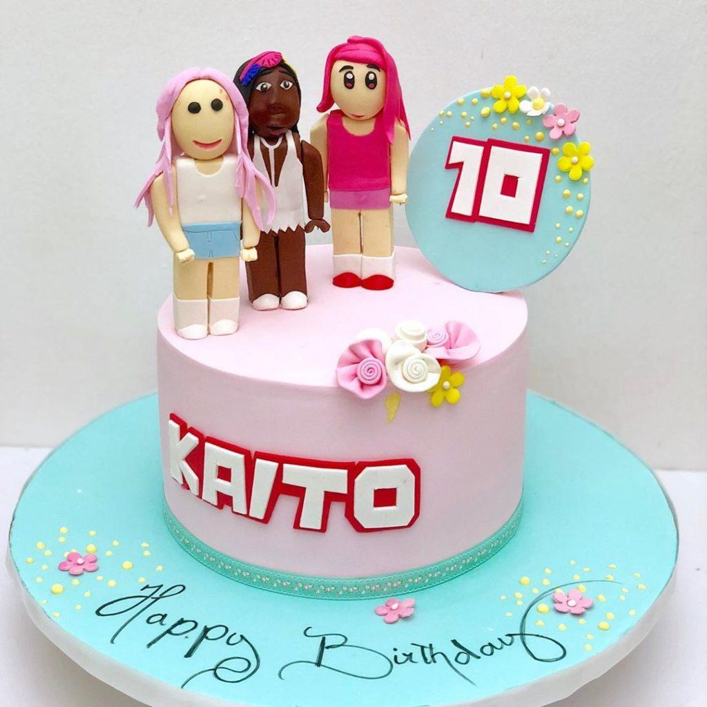 Roblox Birthday Cake for Girls