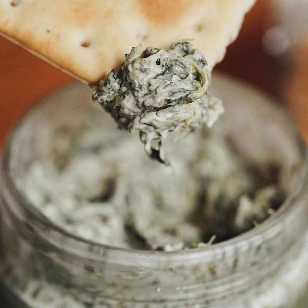 Spinach Dip in a Jar