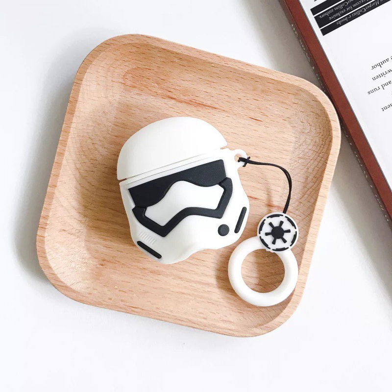 Storm Trooper Airpod Case on a Table