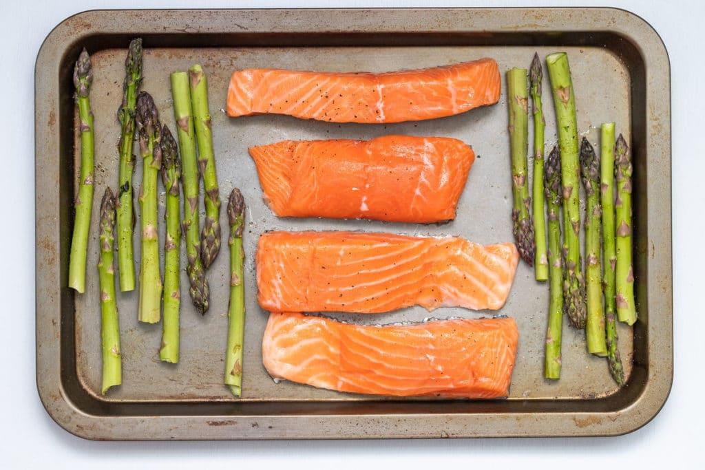 Salmon on a Baking Tray