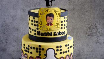 15 Snapchat Cake Ideas & Designs