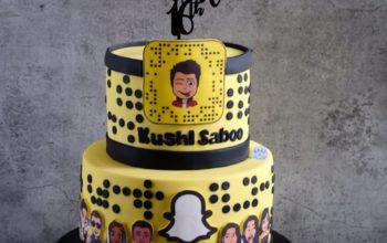 15 Snapchat Cake Ideas