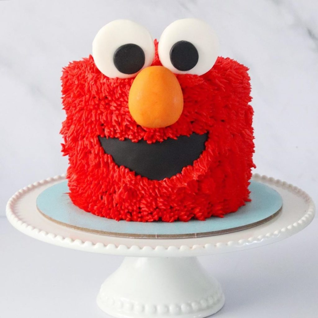 Red Elmo Birthday Cake of His Face