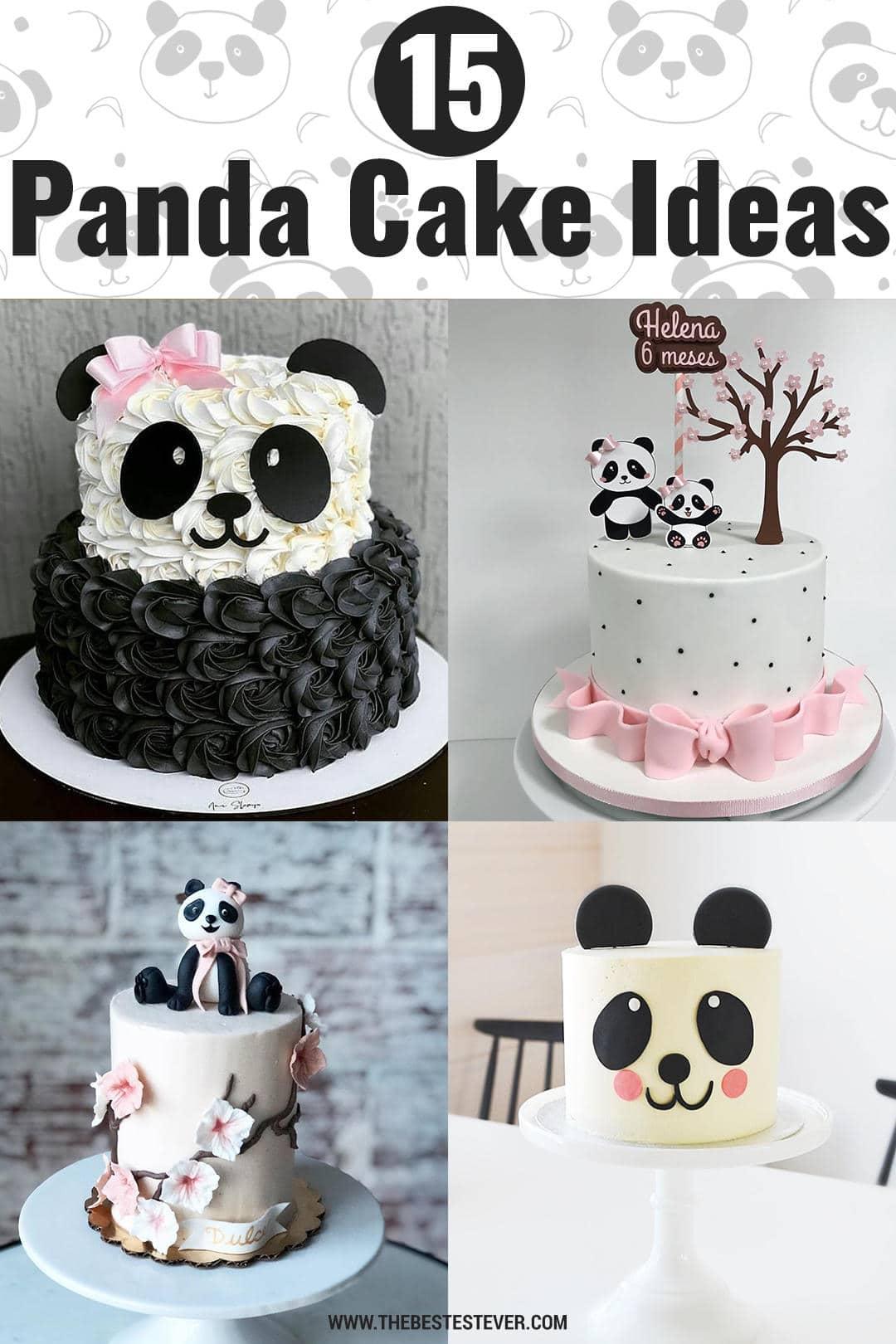 15 Cute & Adorable Panda Cake Ideas & Designs