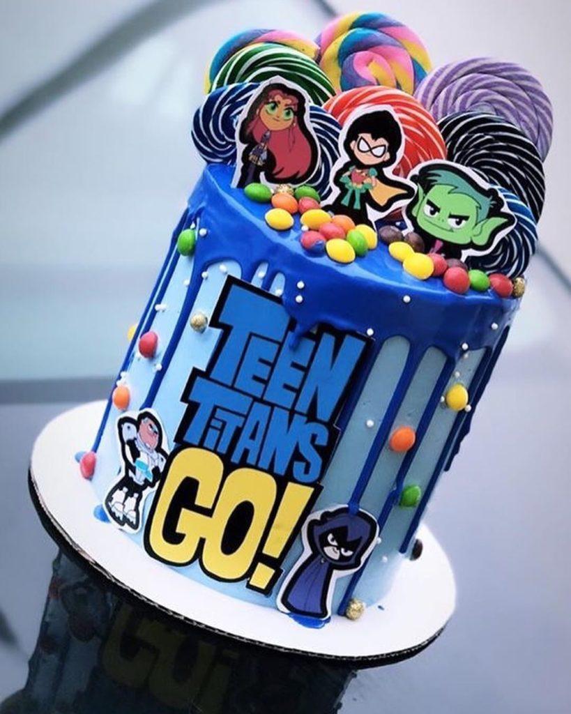 Teen Titans Go Birthday Cake Ideas