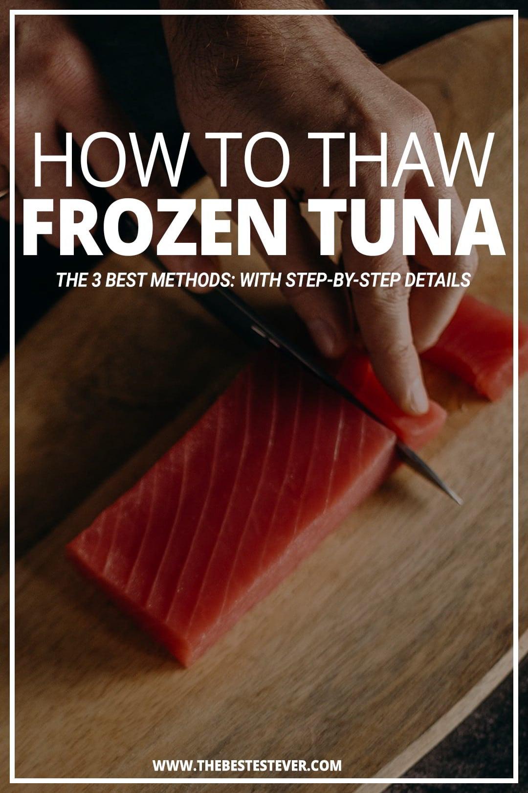 3 Best Methods to Defrost Frozen Tuna Steaks