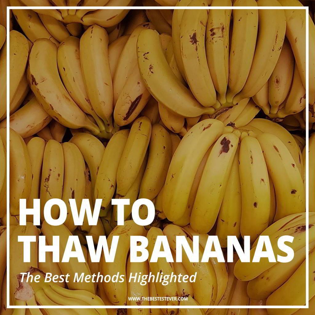 Best Way to Defrost Frozen Bananas Quickly.