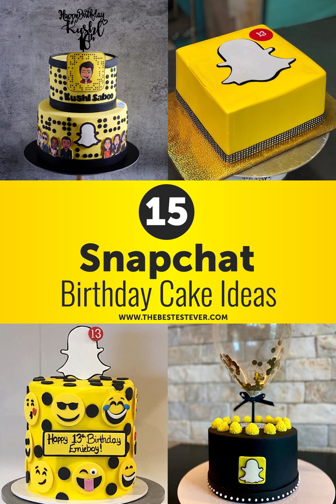 15 Snapchat Cake Ideas & Designs That Will Blow Your Mind