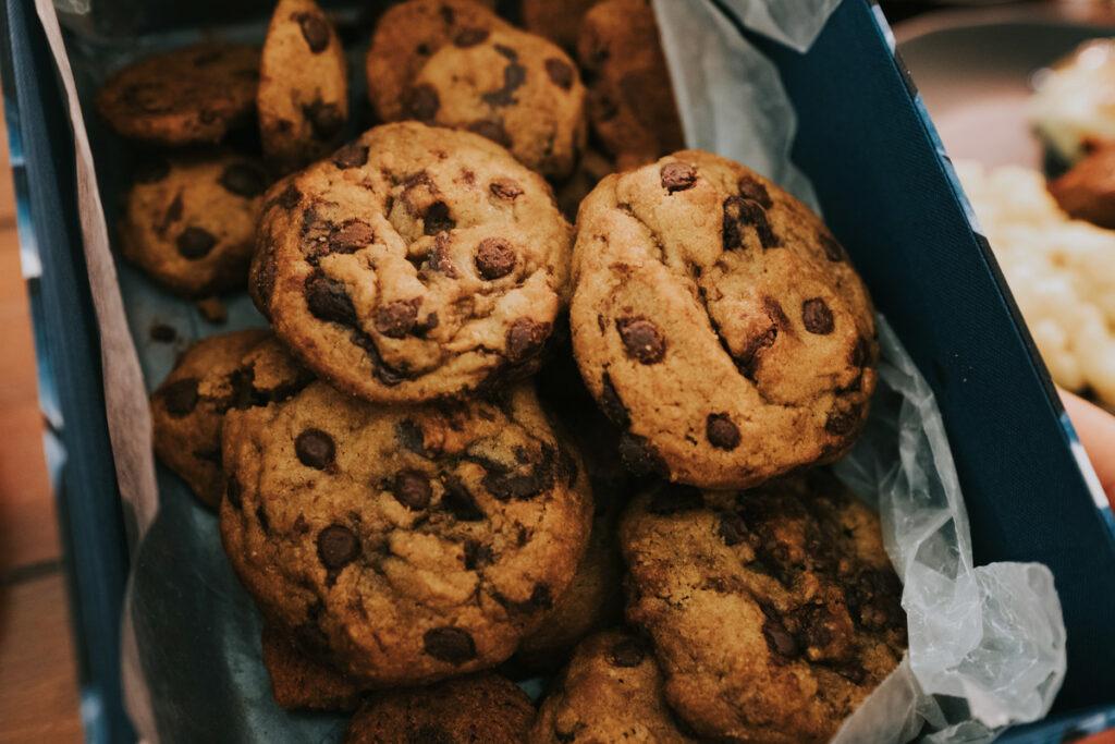 Basket of Chocolate Chip Cookies
