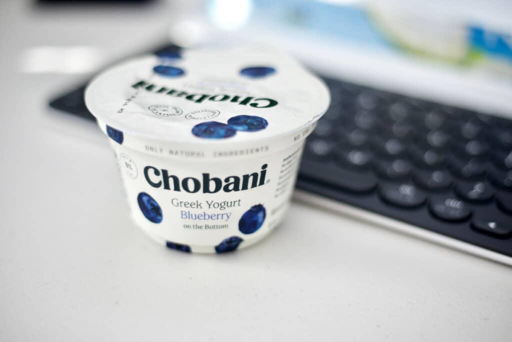 Container of Chobani Yogurt