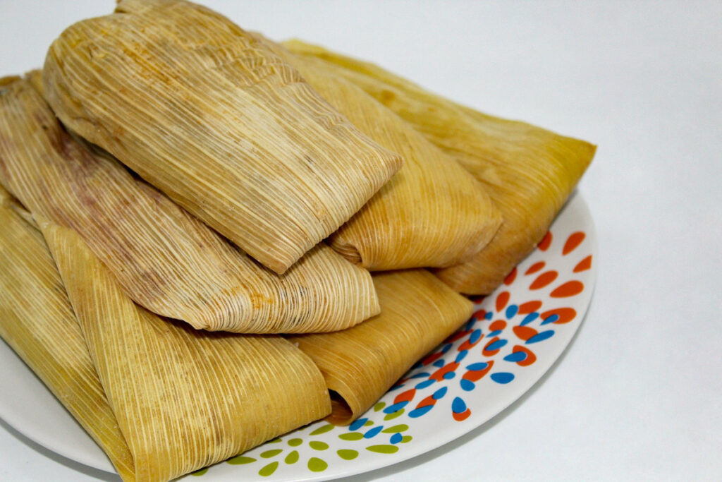 Tamales in a plate