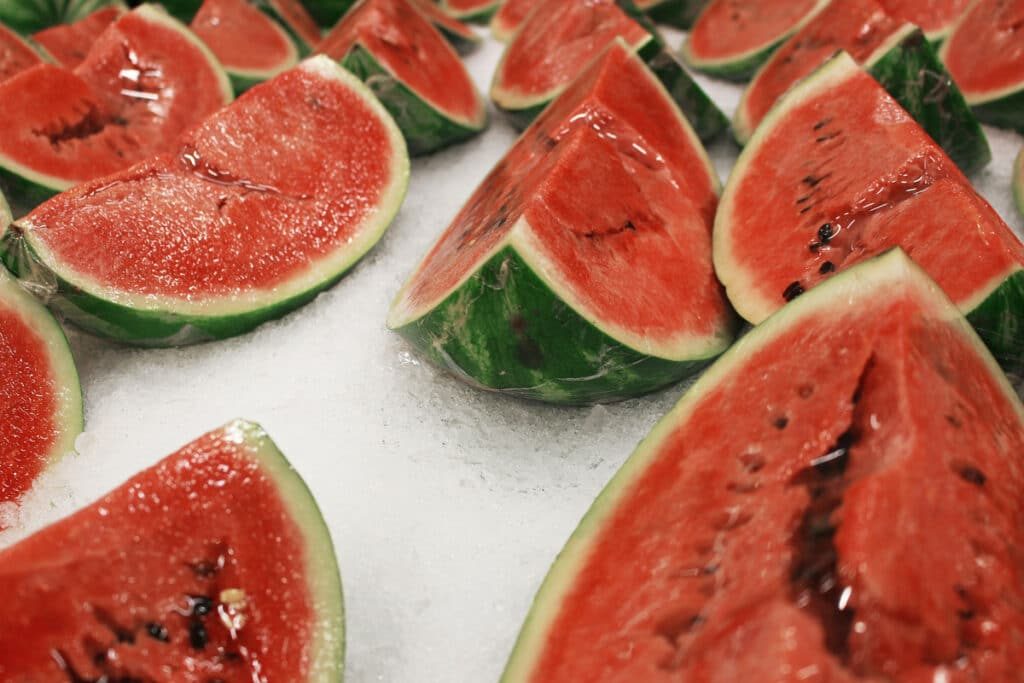 Bunch of Cut Watermelons