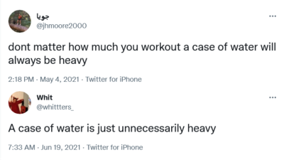 How Much Does a Case of Water Weigh?
